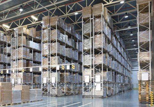 Wide aisle racking for bulk storage